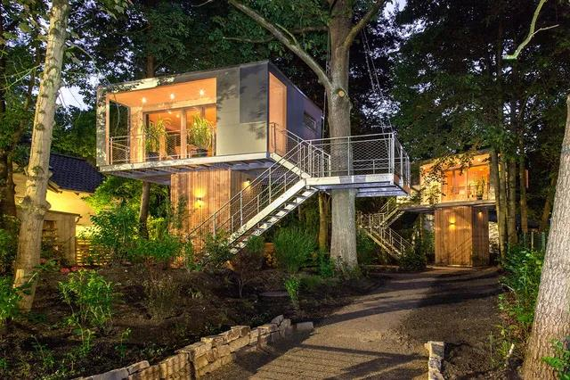 别墅树屋图片 欧式