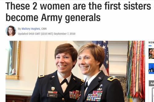 【军事】244年来首例!美国一对亲姐妹同为陆军将领