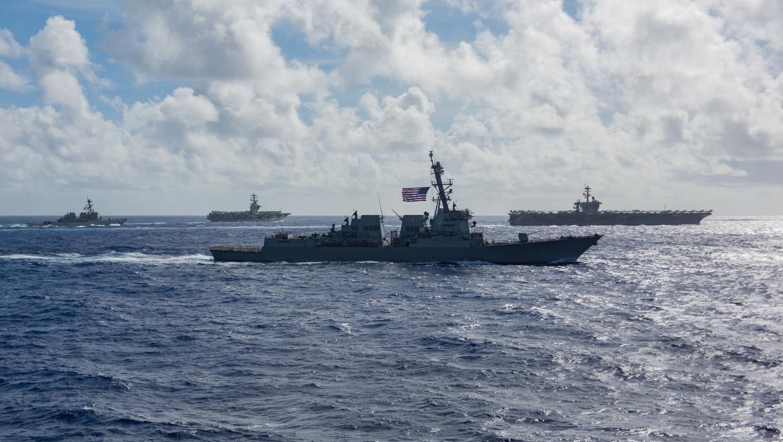 海军 狂秀肌肉?美军时隔一周又在西太出动双航母演练