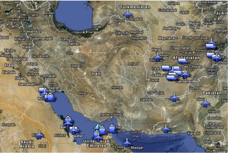 从阿曼、阿联酋和科威特到土耳其和以色列,数十个美国和盟军的军事设施遍布该地区.png
