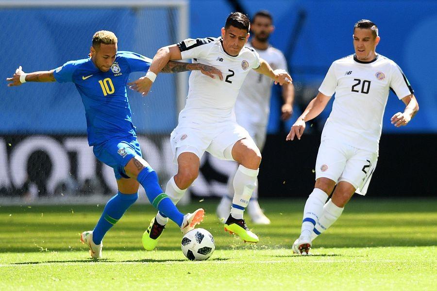 库蒂尼奥+内马尔!巴西队补时连进两球胜哥斯达黎加