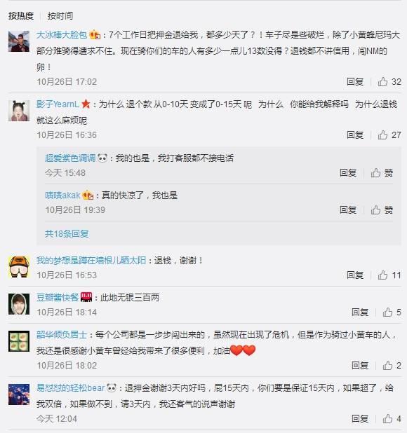 "ofo被曝退押金周期再延长!网友喊话""赶紧还钱"""