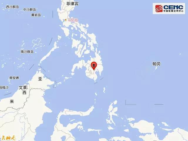 菲律宾棉兰老岛再次发生6.6级地震