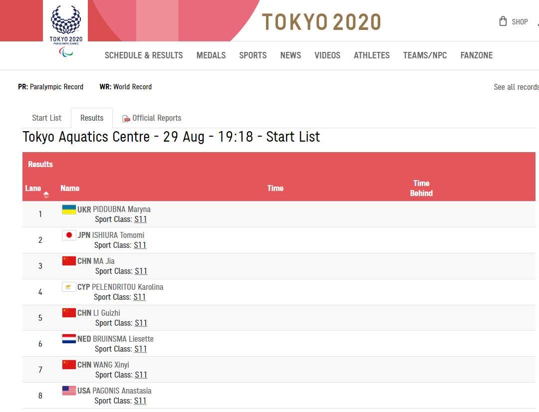 东京残奥会女子50米自由泳S11级今晚重赛