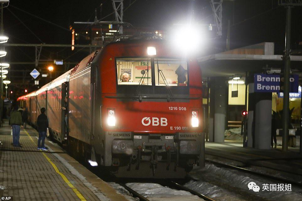 图:奥地利被叫停的列车