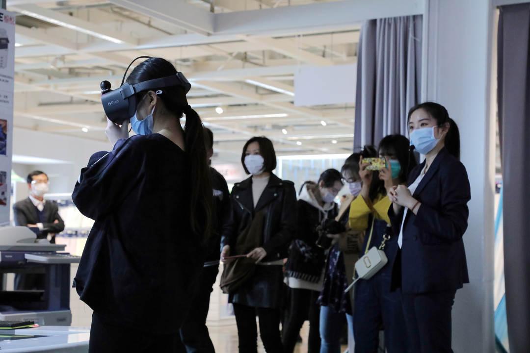 體驗5G和VR技術研發的家紡產品