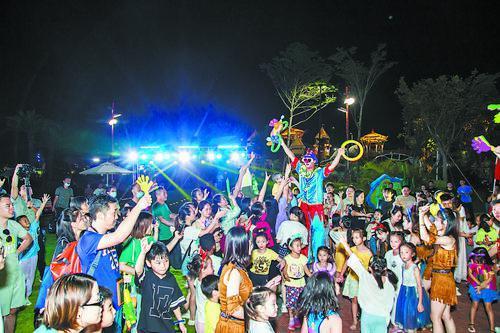 横琴国庆期间吸引了很多游客前来游玩