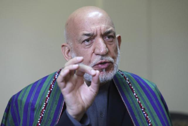 阿富汗前总统卡尔扎伊(图源:外媒)